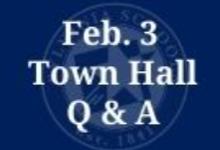 Feb. 3 Town Hall