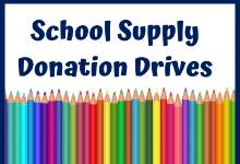 Supply Donation Drives