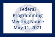 Federal Programming Meeting Notice