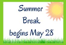 Have a wonderful summer!