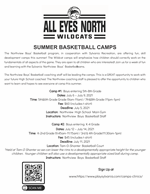 Northview Boys' Basketball Camps flyer